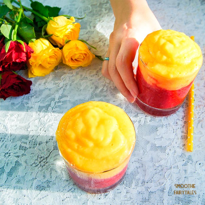 Mango Raspberry Sunrise Smoothie