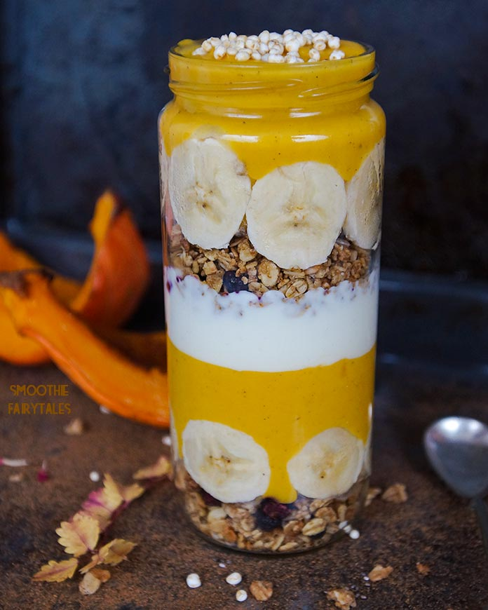 Pumpkin Pie Smoothie Breakfast Jar