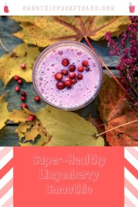 Healthy Lingonberry Smoothie