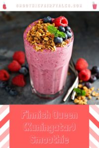 Finnish berry smoothie bilberry blueberry raspberry