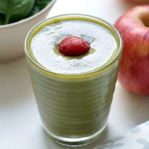 Strawberry Apple Spinach Smoothie