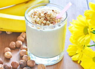 Hazelnut Banana Yogurt Smoothie