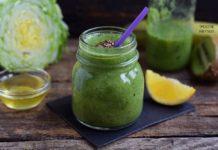 Chinese Cabbage and Spinach Green Smoothie